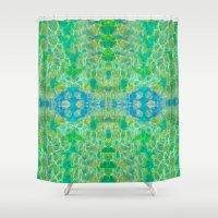 swim Shower Curtains featuring Swim by Ellecho