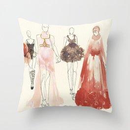 Alexander McQueen Fashion Illustrations 2013 Throw Pillow