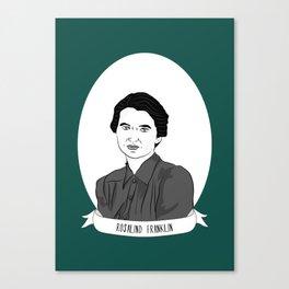 Rosalind Franklin Illustrated Portrait Canvas Print