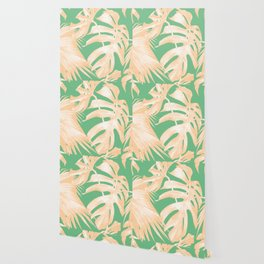 Tropical Monstera and Palm Party Wallpaper