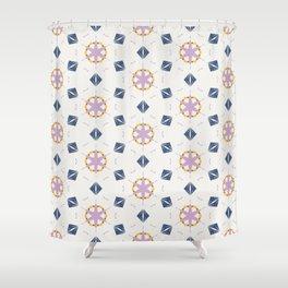 Harper geo trinkets pattern Shower Curtain