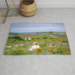 William Merritt Chase - Landscape, Shinnecock, Long Island - Digital Remastered Edition Rug