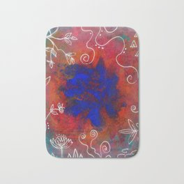 Blue Star Bath Mat