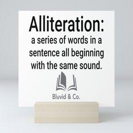 #alliteration Mini Art Print