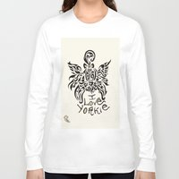 yorkie Long Sleeve T-shirts featuring LOVE YORKIE by Elisa Daniele