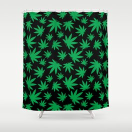 Weed Leaf Pattern  Shower Curtain