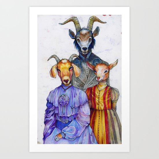 the van Goatsians Art Print