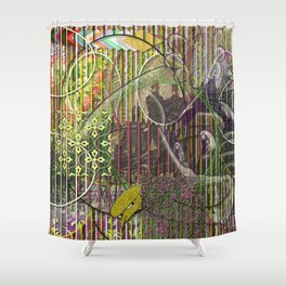 A Strict Code for Mourning Flowers (1) Shower Curtain
