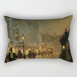 Classical Masterpiece 'Glasgow, Twilight' by John Atkinson Grimshaw Rectangular Pillow