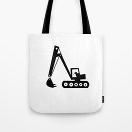 Digger Print in Black and White Tote Bag