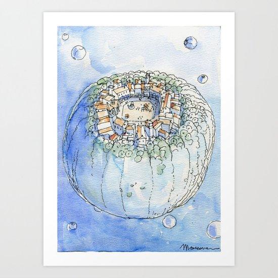 The Planet City Art Print