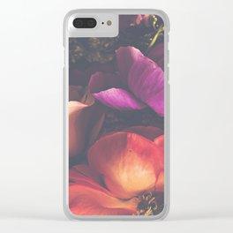 Color Burst Florals Clear iPhone Case