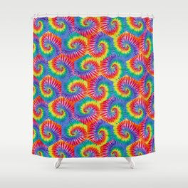 Tie-Dye Hexagon Colorful Pattern Shower Curtain