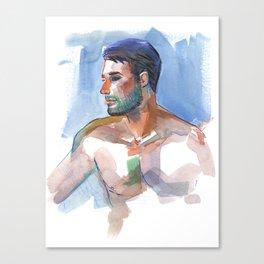 MATT, Semi-Nude Male by Frank-Joseph Canvas Print