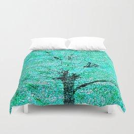Trees Green Misty Duvet Cover