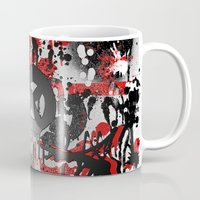 graffiti Mugs featuring Graffiti  by Jonna Ivin
