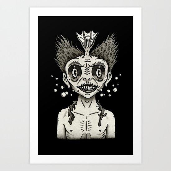 Portrait of a Fiji Merman Art Print
