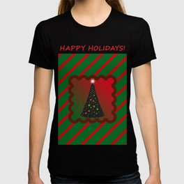 Christmas Tree with Lighted Star T-shirt