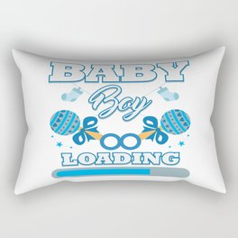 Baby Is Loading Boy Pregnancy Announcement Gift Rectangular Pillow