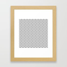Honeycomb Grey and White Pattern Framed Art Print