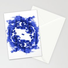 Blue Circle abstract painting enso minimal modern home office dorm college decor Stationery Cards