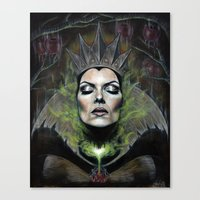 queen Canvas Prints featuring My Queen by Wendy Ortiz