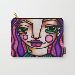 JennyMannoArt Colored Illusration/Peaches Carry-All Pouch