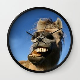 Happy Horse Photography Print Wall Clock