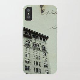 Crest Hotel iPhone Case