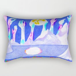 Angel's City in Blue Rectangular Pillow