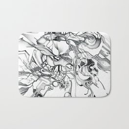 Enter the Branching Sequence - Pencil Sketch Illustration Bath Mat