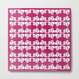 The Pink Print Metal Print