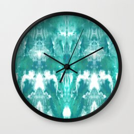 Aqua Blue Lagoon Wall Clock