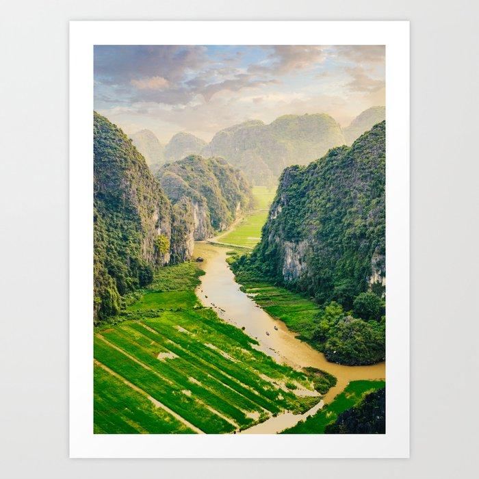 Vietnam Paddy Fields Art Print