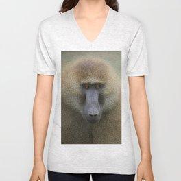 Guinea Baboon Unisex V-Neck