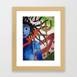Shiva - Anstract Art by Saneeshsa Framed Art Print