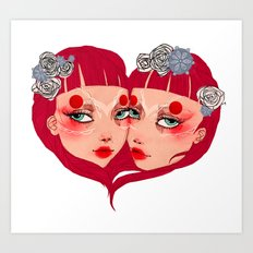 Le coeur Art Print