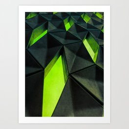 Dark Kryptonite by Brian Vegas Art Print