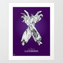 Latebirds Zombie Sign Art Print