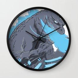 Blue Godzilla Wall Clock