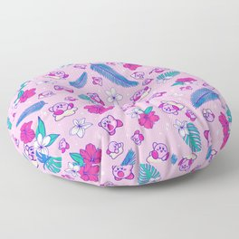 Pink Tropical Kirby Floor Pillow