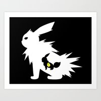 Thunder Stone White Art Print