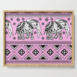 Elephants Pattern Mandalas Elephant Print Serving Tray