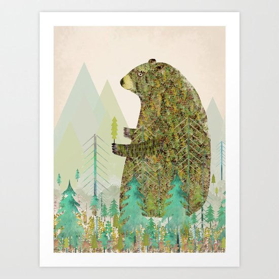 the forest keeper Art Print
