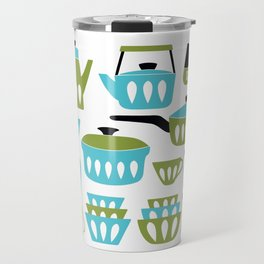 My Midcentury Modern Kitchen In Aqua And Avocado Travel Mug