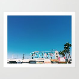 venice boardwalk- Venice, CA Art Print