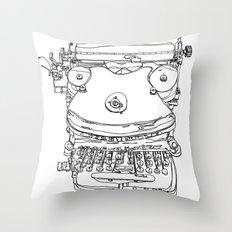 Typewriter Face Throw Pillow