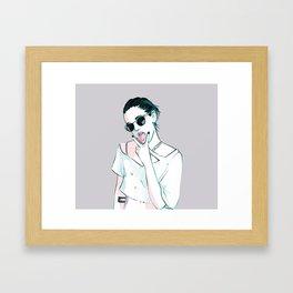 Ride 'Em On Down Framed Art Print