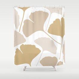 Minimal leaves Shower Curtain
