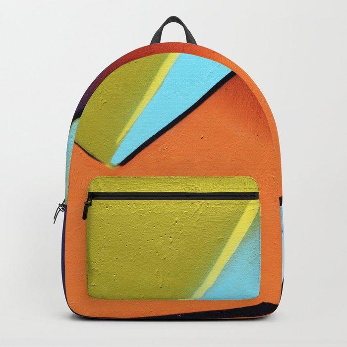 shapes orange yellow Backpack